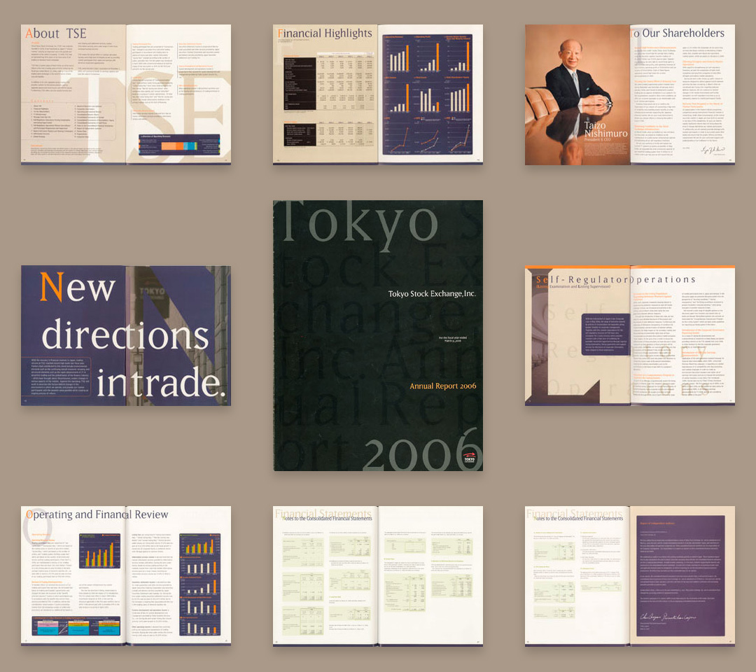 ContactAbout us Tokyo Stock Excange,Inc. Annual Report 2006